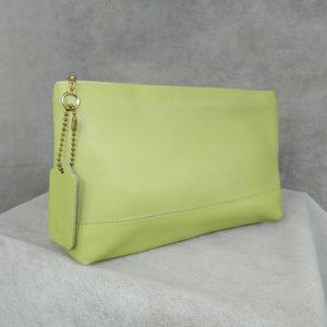 Coach Vintage Cosmetic/Travel Pouch Lime Green EXC